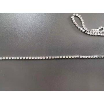 Cadena de copa de diamantes de imitación de cristal de vidrio 2MM