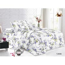 Juego de sábanas de gasa de poliéster con estampado floral Dobby
