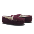 warm indoor bedroom sheepskin moccasin shoes slippers