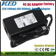 32V1100mA + 16V1600mA (0957-2175) Fuente de alimentación original de la impresora para HP PSC 1600