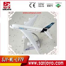 A380 16 CM mini avión de juguete de metal modelo de avión fundido VS modelo de avión de resina