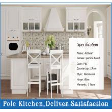 Cozinha modular de PVC branco de alta qualidade