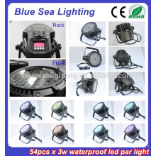54pcs x 3w stage light disco equipment IP65 par30 led bulbs