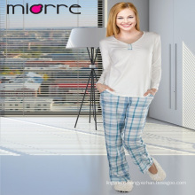 MIORRE OEM WOMEN'S NEW COLLECTION LONG SLEEVE & PLAID PATTERNED SLEEPWEAR PAJAMAS SET