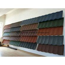 Telhas de telha de aço revestidas de pedra colorida