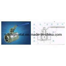 Válvula de esfera de aço inoxidável 304 2-PC