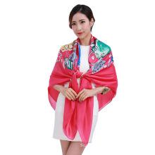 Hot Sell imprimé grande foulard carré avec plusieurs couleurs