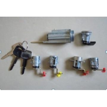 lock cylinder set for one car
