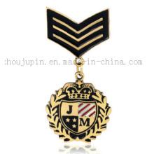 Emblema clássico feito sob encomenda do emblema do emblema do esmalte da lapela do traje