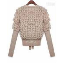 Ladies Cashmere Turtle Long Sleeves Round Neck Knitwear