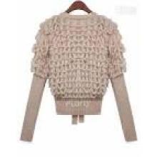 Senhoras cashmere tartaruga mangas compridas em torno do pescoço knitwear