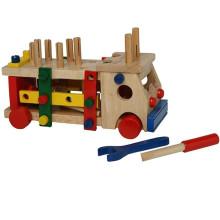Madeira, montagem, caminhão, brinquedos, ferramentas