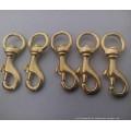 Nickel Plated Brass Karabinerhaken mit Drehhaken