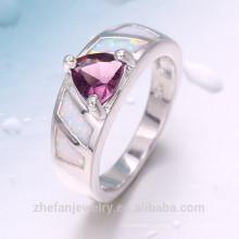 Luxo dubai estilo encantador design de prata anel de presente da jóia para namorada