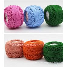 Hilo de algodón orgánico del cordón que hace punto teñido estambre teñido estambre de alta calidad
