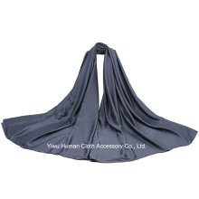 Solid Color Polyester Satin Scarf for Lady