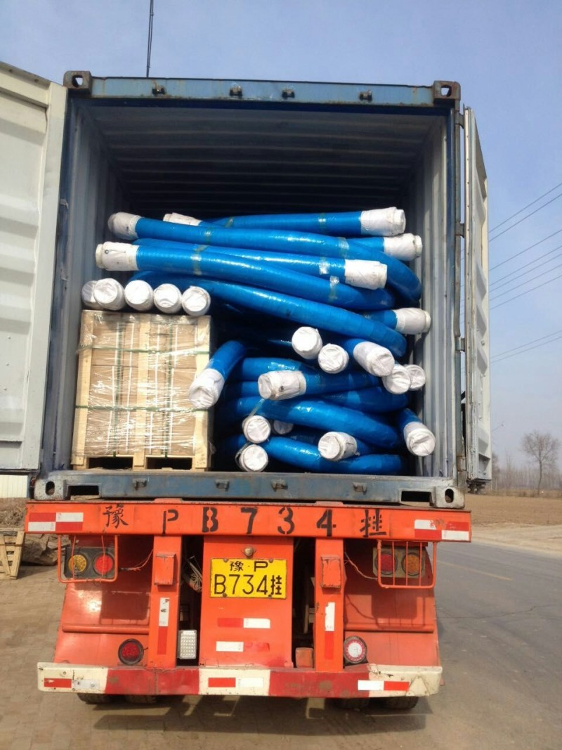 rubber hose in container