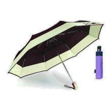Guarda-chuva à prova de vento automático compacto da beira & da borda (YS-3FA22083960R)