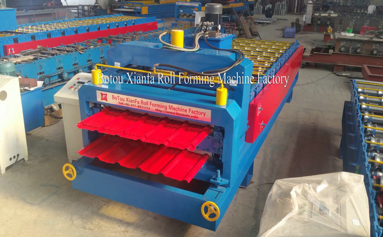 glazed tile rolling forming machine