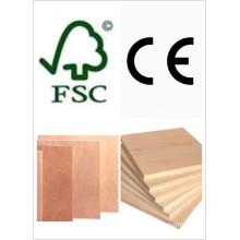 Laminiertes Sperrholz / kommerzielles Sperrholz Pappel Core E1 Kleber