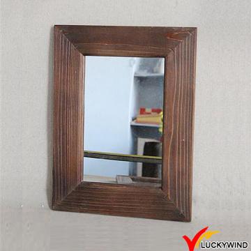 Sandblasting madera enmarcado estilo francés antiguo espejo decorativo de pared