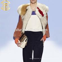 2015 оптовая продажа Необычные енот мех жилет красочные секс девушка или женщины животных меховой жилет из Китая подлинной меховой жилет