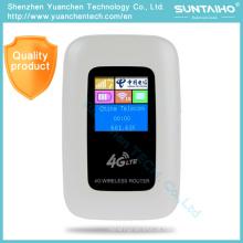 Router do repetidor de Mobile3g 4G WiFi de 100Mbps mini Lte com apoio Lte / WCDMA HSPA / GSM do entalhe do cartão de SIM