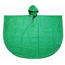 Yj-6006 Popular Green PVC Cycling Rain Poncho Plastic for Hiking