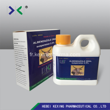 Albendazole Suspension 10% Bovins