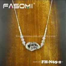 druzy artesanal pedras quartzo pingente colar