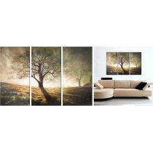 Pintura abstrata da arte da árvore / pintura a óleo da lona / pintura da lona da decoração da parede