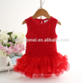 new fashion korean style baby romper dress spaghetti strap and strap baby romper blank with 3d flower