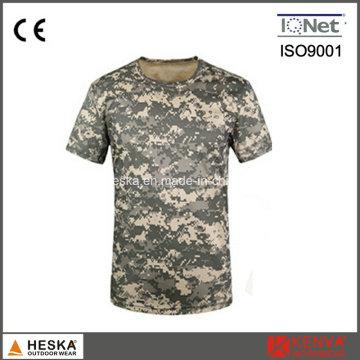 Militar del ejército de algodón Color camuflaje para hombre T camisa