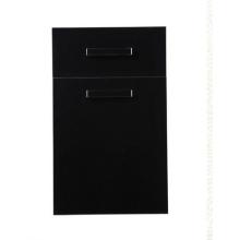 Черная дверь ламинированного кухонного шкафа (более 100 цветов на выбор)