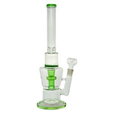 Waben-Glas-Rauch-Wasser-Rohr mit Duschkopf-Eis-Fänger (ES-GB-424)