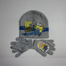 Minions Acryic Knitting Hat Gloves