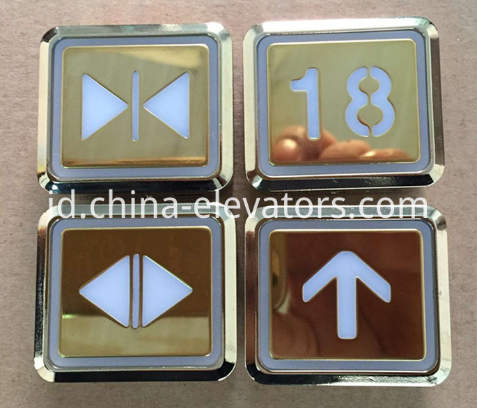 Golden Ultrathin Push Button for Hitachi Elevators DL-POB