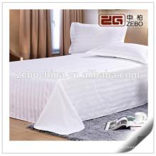 250T Poly-Algodón material de la tela de la raya Personalizada utilizado Hospital camas hojas