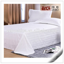 250T Poly-Cotton Material Stripe Fabric Customized Used Hospital Beds Sheets