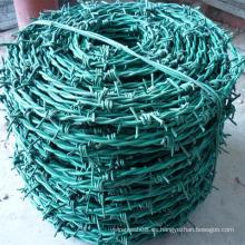 Alambre de púas recubierto de PVC con doble línea