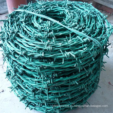 Зеленый цвет ПВХ покрытием колючей проволокой