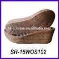 Holz Stile Dame dicke Sohle Casual Schuhe Keil Sohle PU Schuhsohle