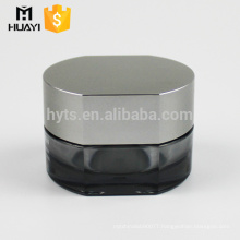 wholesale unique shape crystal black cosmetic jar