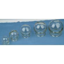 Tarro de ventosas de vidrio para terapia de ventosas y masajes chinos