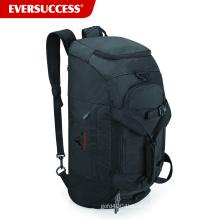 BSCI Factory Convertible Gym Bag, bolsa de lona con zapatos y compartimento para la pelota (ESC-SB100)