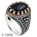 Hotsale Design 925 Sterling Silver Jewelry Ring with Black Agate