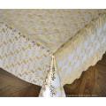 137cm PVC Gold Lace Tablecloths Nuevos Diseños