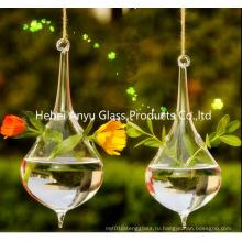 2016 Горячая продажа Teardrop-Shaped висящая стеклянная ваза для домашнего украшения
