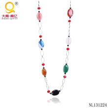 Collar de moda de la cadena del diseño del collar de la ágata