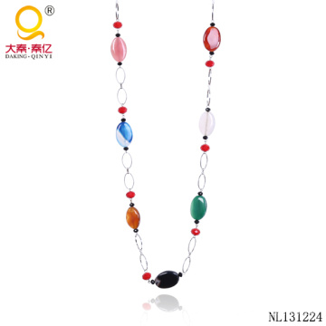 Модные Агат ожерелье дизайн цепи ожерелье